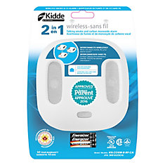 Kidde Wink Wireless Compatible Interconnected Combination Smoke and CO Alarm with Voice Alert